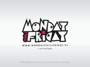 Oficjalny logotyp zespołu muzycznego MONDAY CHILI FRIDAY.