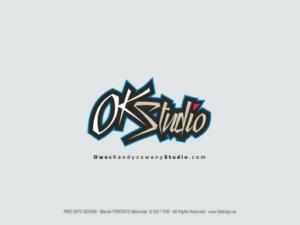 Logotyp dla studia nagrań - Owoc Kandyzowany.