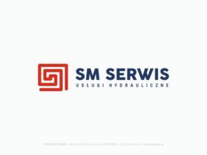 SM SERWIS logotyp dla firmy hydraulicznej.