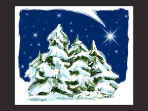 MULTIDRUK S.A. kartka świąteczna - rysunek  odręczny na tablecie.