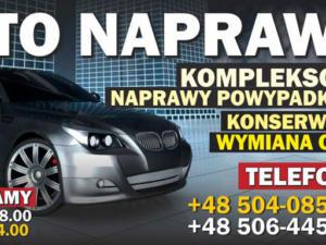 AUTO POPŁAWSKI - projekty graficzne i druk materiałów promocyjnych m.in. banery reklamowe.