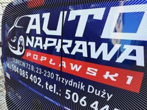 Auto Naprawa Poplawski oklejenie auta firmowego.