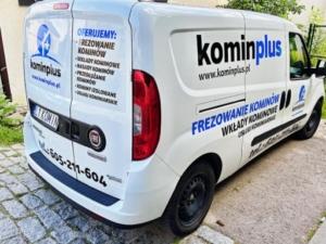 KOMIN PLUS - projekt i oklejenie auta firmowego.