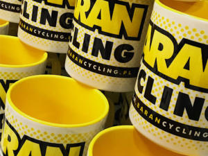 Kubki reklamowe dla Baran Cycling Team.