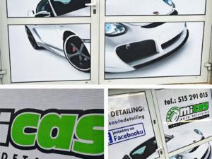 MICAS Autodetailing - identyfikacja wizualna firmy i jej siedziby.
