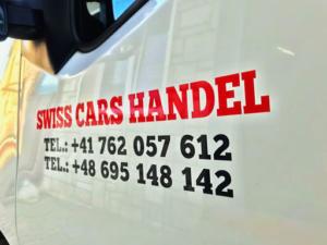 Swiss Cars Handel - oklejenie samochodu firmowego.