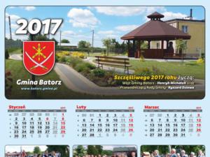 Urząd Gminy Batorz - projekt graficzny i przygotowanie do druku kalendarza na 2017 rok.