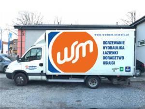 WODMET projekt oklejenia dostawczego samochodu firmowego.