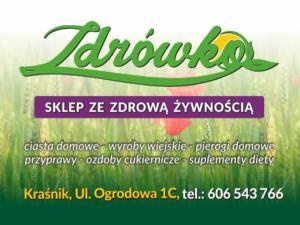 ZDRÓWKO - Wybrane elementy identyfikacji wizualnej sklepu ze zdrową żywnością.